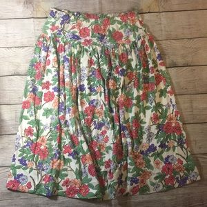 Aileen WOMENS 27 inch long fun n floral skirt